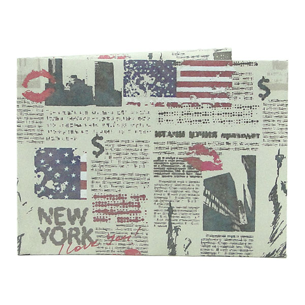 Carteira de Papel Tyvek New York